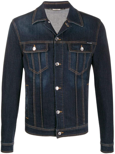 Dolce & Gabbana Jacket Dolce & Gabbana Logo Patch Denim Jacket