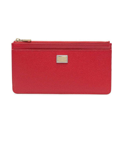 Dolce & Gabbana Purses & Pouches Dolce & Gabbana Logo-Plaque Red Purse