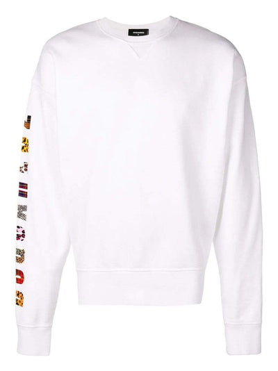 Dsquared2 Sweatshirt Dsquared2 Printed Sleeve Jumper