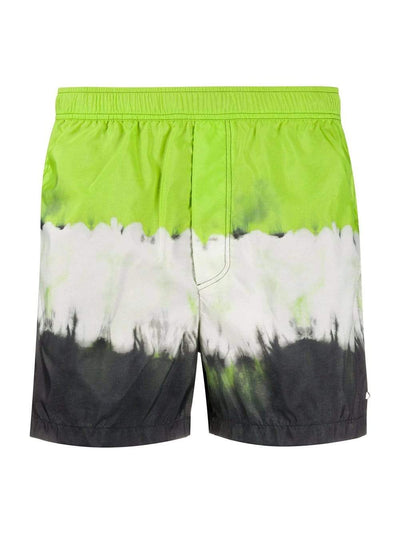 Valentino Swim Shorts Valentino Block Print Swim Shorts