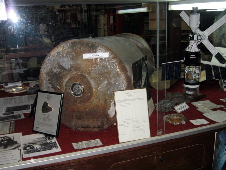 Pieces of Skylab are now on display in a local museum in regional Western Australia. AAP Image