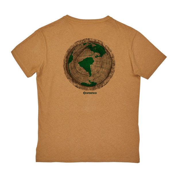 Camiseta Masculina Algodão Reciclado - Green Wood World