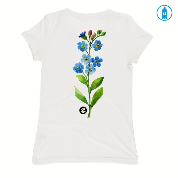 Camiseta Baby Look PET Reciclado - Flor Aquarela 2