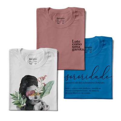 Kit Camisetas Baby Look - Grl Power