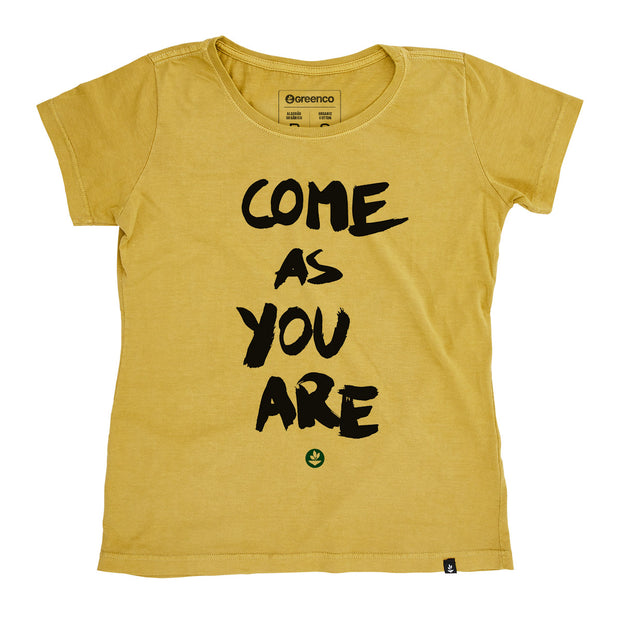 Camiseta Baby Look Algodão Orgânico -  Come as you are
