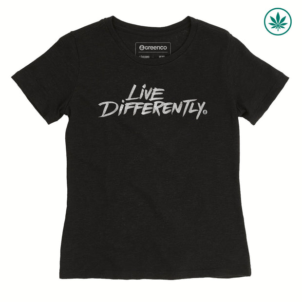 Camiseta Baby Look Cânhamo - Live Differently
