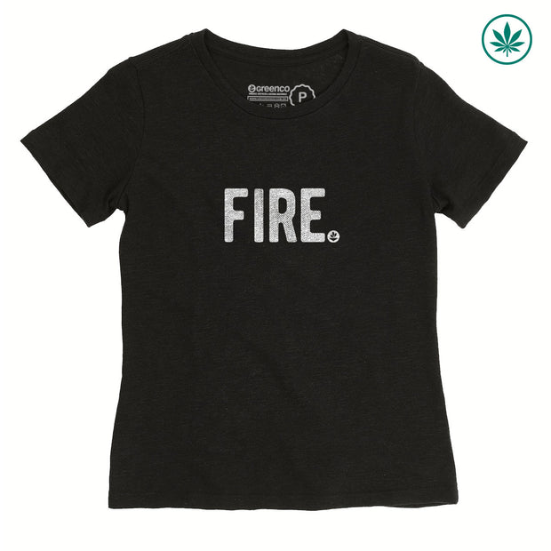 Camiseta Baby Look Cânhamo - Fire