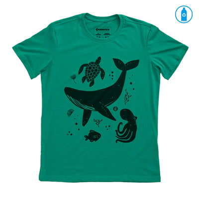 Camiseta Gola C PET Reciclado - Ocean Lives