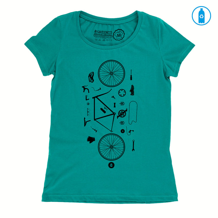 Camiseta Baby Look PET Reciclado - Desconstrubike