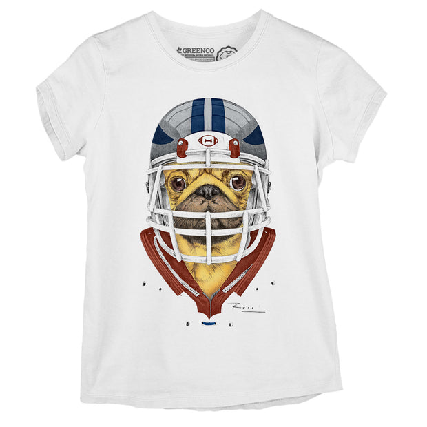 Camiseta Baby Look American Football Pug - RK