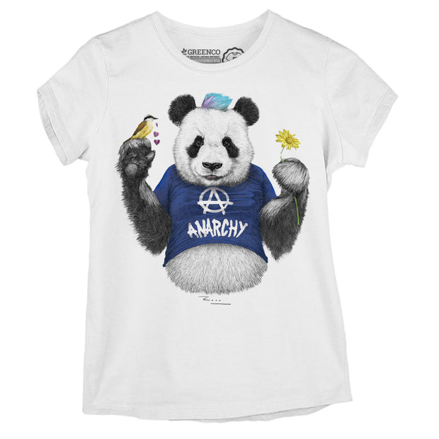 Camiseta Baby Look Punk Panda Blue - RK