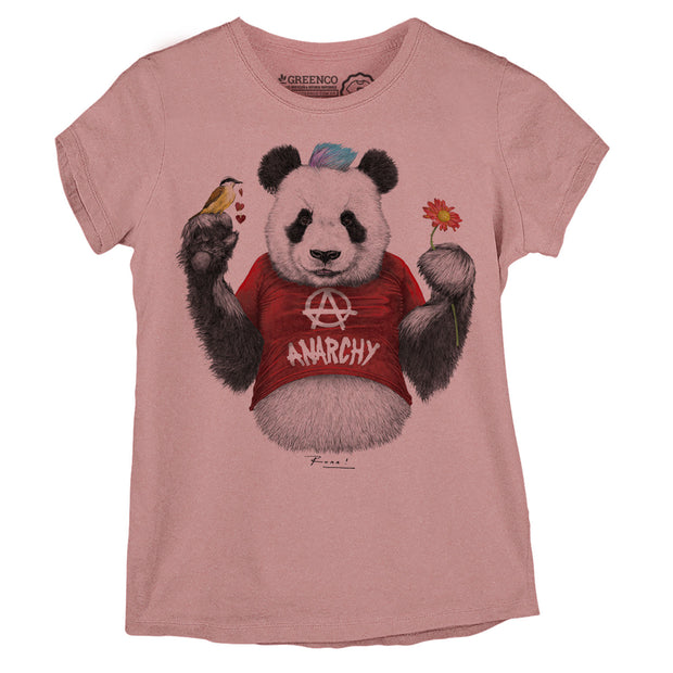 Camiseta Baby Look Punk Panda Red - RK