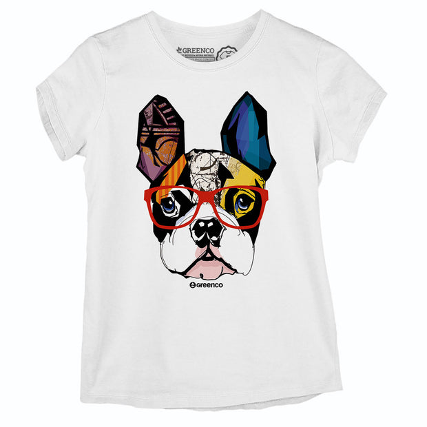 Camiseta Baby Look Dog Hipster