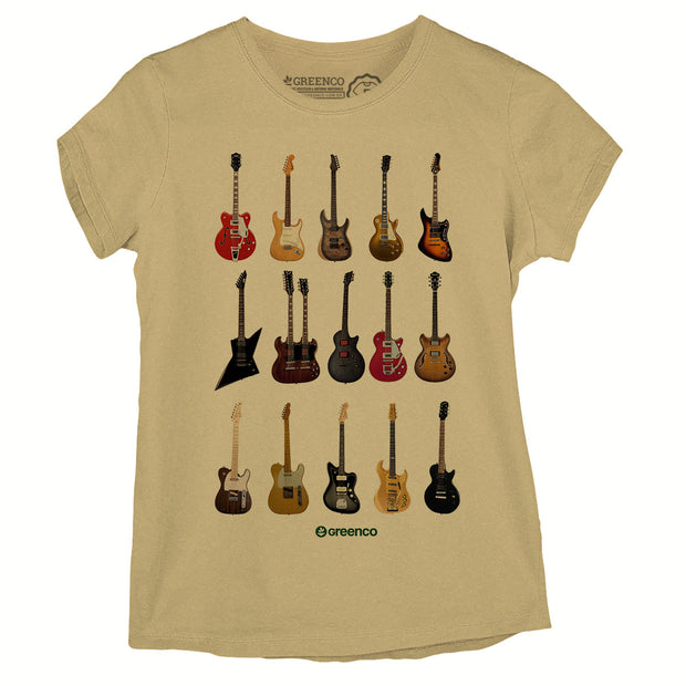 Camiseta Baby Look Guitar Types