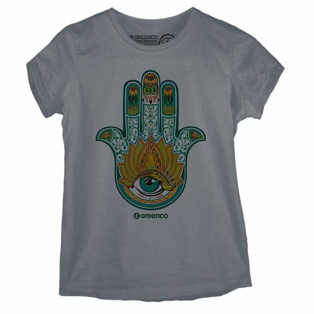 Camiseta Baby Look Hamsa Color