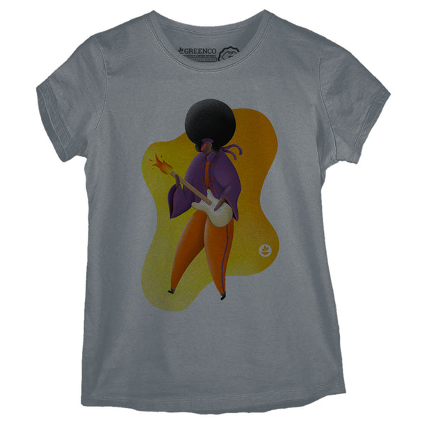 Camiseta Baby Look Rock Hendrix