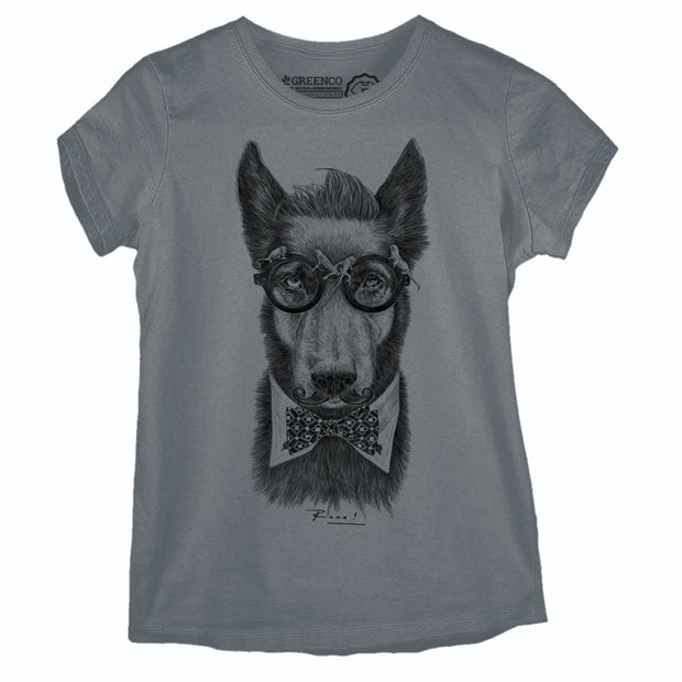Camiseta Baby Look Hipster Dog PB - RK