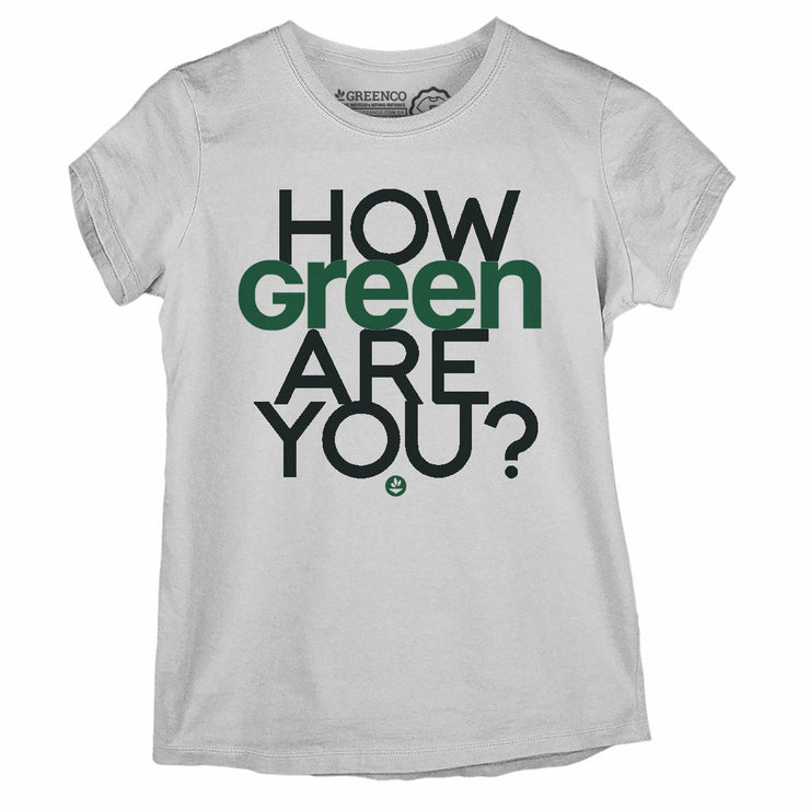 Camiseta Baby Look Algodão Sustentável - How Green Are You