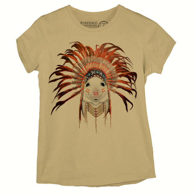 Camiseta Baby Look Orange Feather Mouse - RK