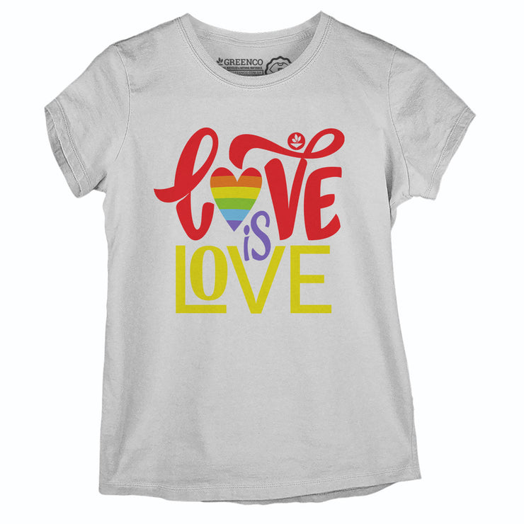 Camiseta Baby Look - Love Is Love