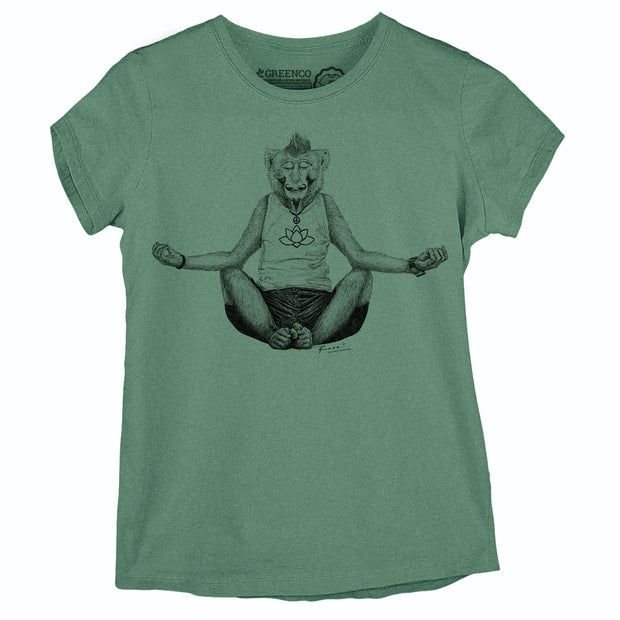 Camiseta Baby Look Monkey Yoga - RK