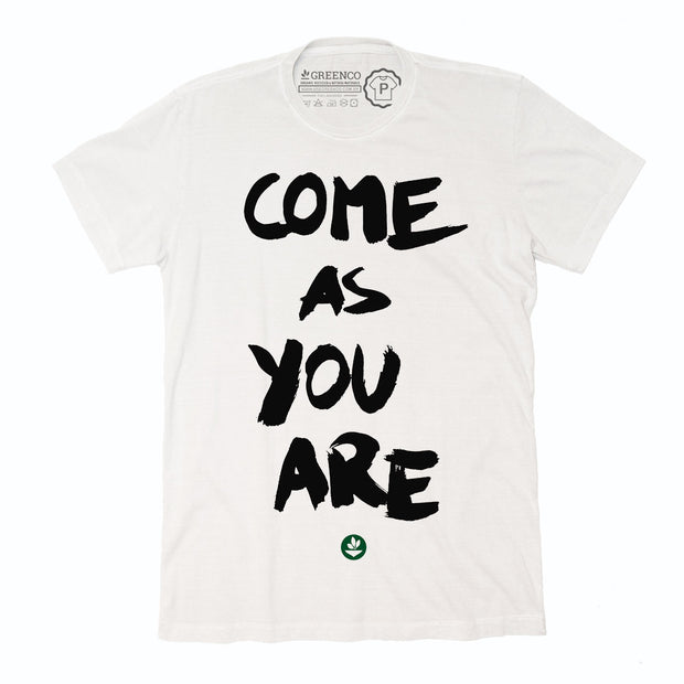 Camiseta Gola C Algodão Sustentável - Come As You Are