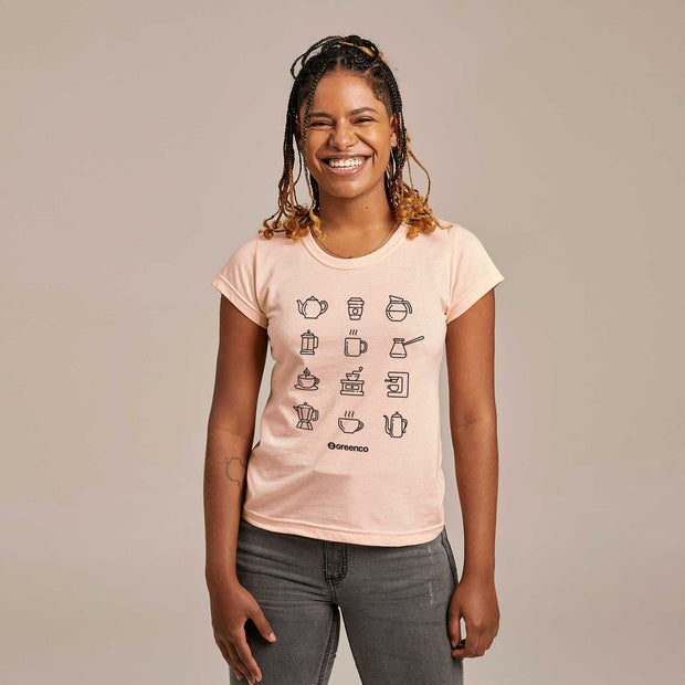 Camiseta Feminina PET + Linho - Coffee Lovers