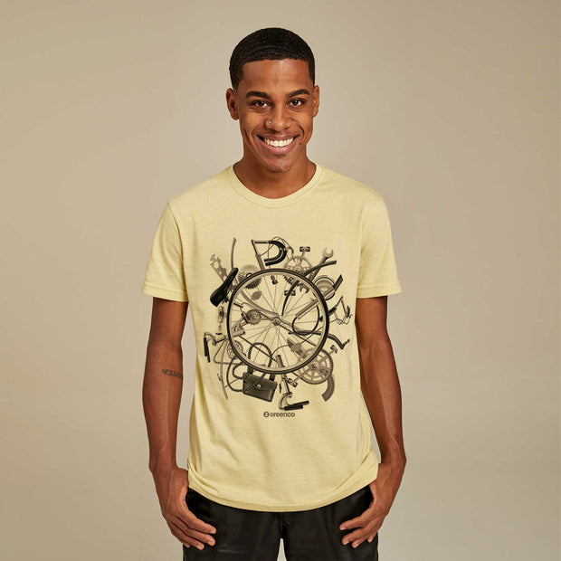 Camiseta Masculina PET + Linho - I Love Bike