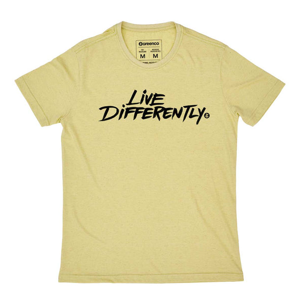 Camiseta Masculina PET + Linho - Live Differently