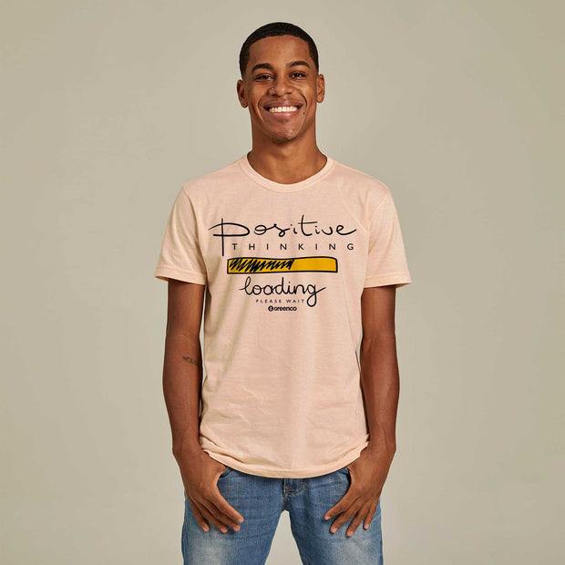 Camiseta Masculina PET + Linho - Positive Thinking