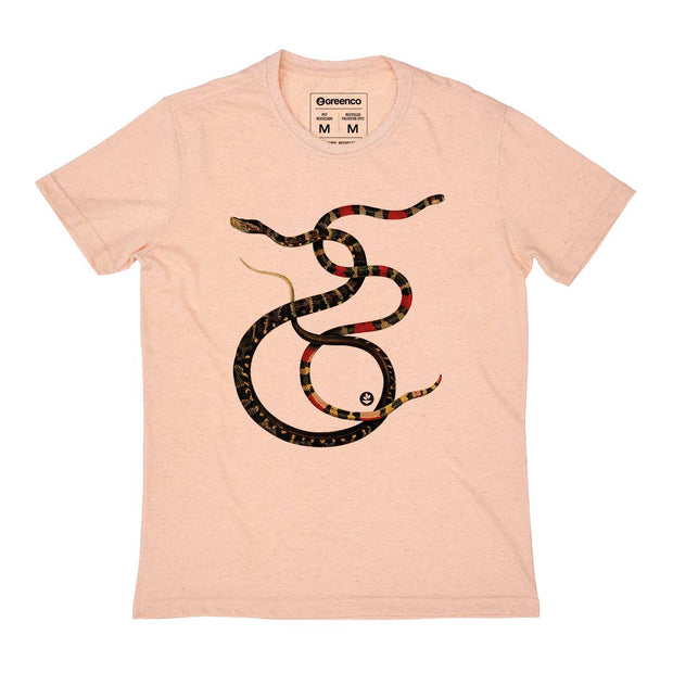 Camiseta Masculina PET + Linho - Serpentes