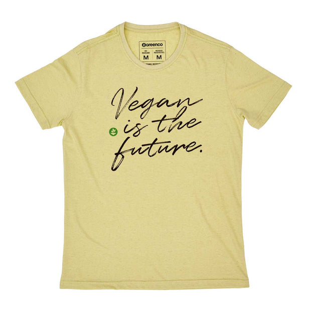 Camiseta Masculina PET + Linho - Vegan Is The Future