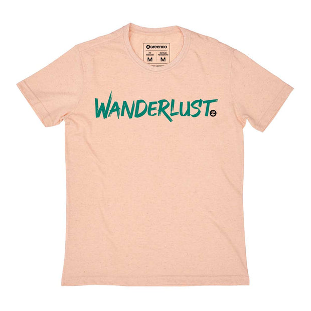 Camiseta Masculina PET + Linho - Wanderlust Brush