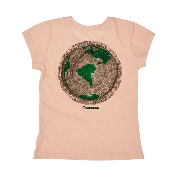 Camiseta Feminina PET + Linho - Green Wood World