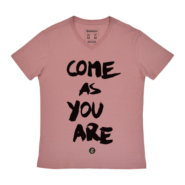 Camiseta Masculina Algodão Conforto - Gola V - Come as you are