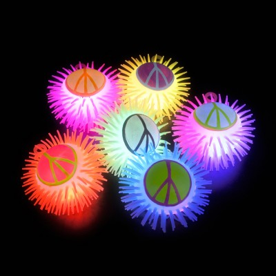 Peace Sign Puffer Yo-Yo w/Light (Small)
