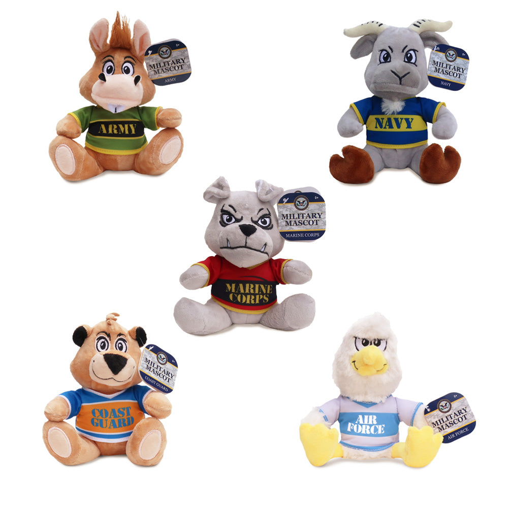"Military Mascots (Small) 6"" ($3.99/EA DELIVERED)**CALL YOUR SALES REPRESENTATIVE FOR DETAILS/AVAILABILITY TODAY! **"