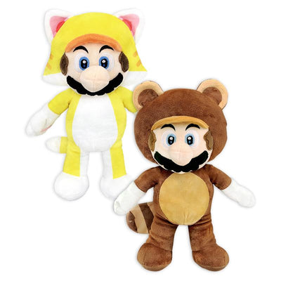 Nintendo Mario Cat and Tanooki Plush (Small)