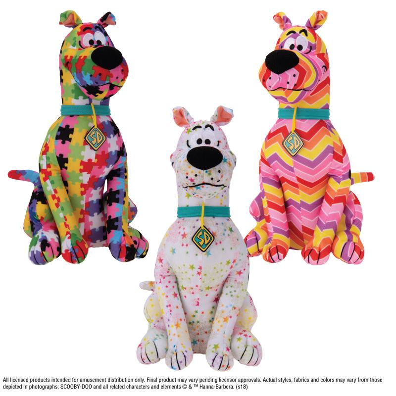 Scooby Doo Crazy Patterns Plush (Small)