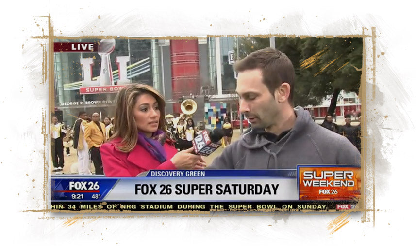 FOX26 in Houston and Rita Garcia interview artist Justyn Farano about his NFL paintings
