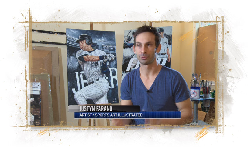 Artist Justyn Farano Interview on YES Network January 2014
