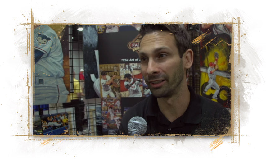Artist Justyn Farano Interview at 2015 MLB All Star Game Fanfest Cincinnati OH