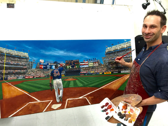 "david ortiz nyy retire gift, ""thanks for the memories"" 30x60 orig"