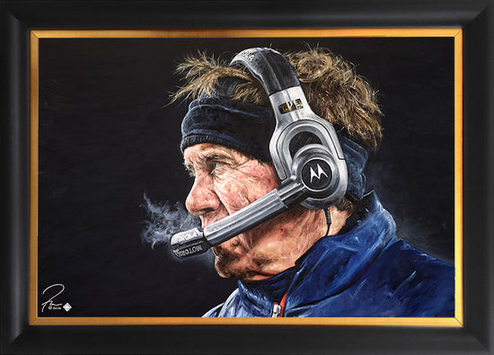 "bill belichick, ""check mate"" 30x45 orig"