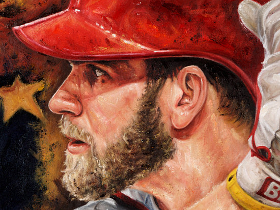 "bryce harper, ""national offense"" 30x45 orig"