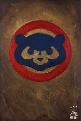 "chicago cubs vintage logo, ""faithful"" 24x36 aroc, l.e. 99"