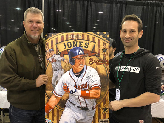 "chipper jones, ""made in the usa"" 30x45 orig, auto jones"