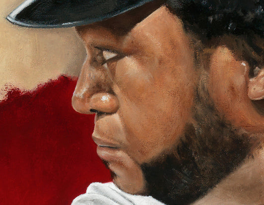 "david ortiz, ""mr. clutch"" 30x45 orig, auto ortiz"