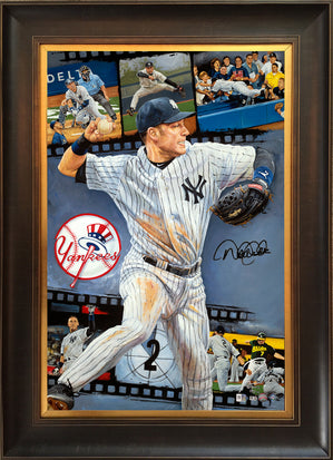 "derek jeter, ""one for the ages"" 24x36 auto aroc, l.e. 42"