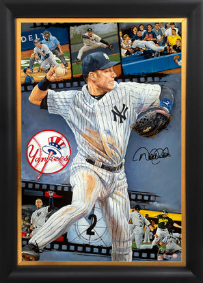 "derek jeter, ""one for the ages"" 30x45 auto aroc, artist proof, l.e. 6"